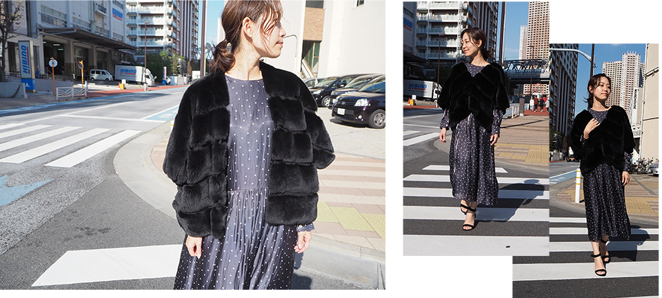 Fur Jacket×Dress